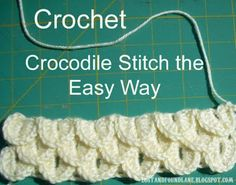 Lost and Found Lane: Crocodile Stitch The Easy Way picture tutorial