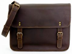 Oskar Stag by Gusti Leder 2U2d Messenger Bag Shoulder Genuine Leather Vintage Dark Brown for only $88.00 You save: $15.50 (15%)