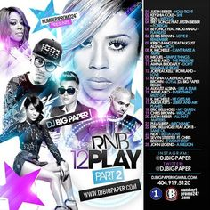"""DJ Big Paper gives all the r&b fans part 2 of te """"RNB 12 Play"""" mixtape series.  Artists on this release include Tiny, Justin Bieber, Joe, August Alsina, Jhene Aiko, Chris Brown, and much more.  Log-on for this free play and download today!"""