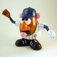 "$19.99 - DA BEARS! This officially licensed Chicago Bears Mr. Potato Head is awesome.• Designed for collectors and fans of all ages.• Standing 6"" tall, this player is the perfect size for proudly displaying on a shelf.• Or playing ""mix and match"" to create a variety of hilarious combinations.r• Each NFL Sports Spud comes with 10 components to mix and match, including a Cowboys jersey, helmet, foam finger and multiple game faces.  GAME ON!"