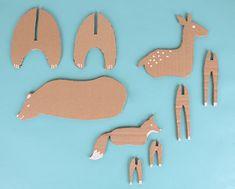 LES OUTILS Du carton alvéolé Un cutter Un posca blanc Un crayon Le printable à téléchargerici 1. Téléchargezle printable, découpez les formes et tracez les contours sur le carton. 2. Découpez les formes à l'aide d'un cutter.En fonction de l'épaisseur de votre carton découpez l Cardboard Animals, Cardboard Crafts, Paper Crafts, Craft Activities For Kids, Preschool Crafts, Diy Crafts For Kids, Kids Art Class, Art For Kids, Christmas Fun