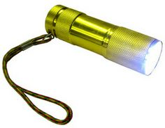 9 LED Flashlight, with 3 AAA Batteries included  www.BatteriesAndButter.com