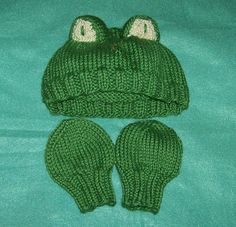 Newborn Froggie Hat - Free Knitting Pattern I need someone to have a baby so I can give them this!