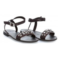 wardow.com - #Campomaggi #shoe #sandal #clogs Sandals Schuhe fein genarbtes Rindsleder dunkelbraun