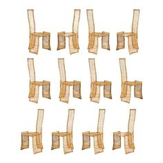 Fabulous Set of Twelve Rattan Dining Chairs by Danny Ho Fong - Image 1 of 11