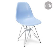 childrens charles and ray eames style dsr chair in blue