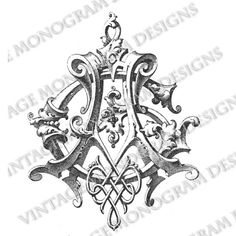 monogram for AG from monogram book published in 1884.
