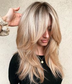 50 Cute and Effortless Long Layered Haircuts with Bangs Long layered hairstyles . 50 Cute and Effortless Long Layered Haircuts with Bangs Long layer Medium Hair Styles, Curly Hair Styles, Hair Layers Medium, Long Hair Short Layers, Medium Long Hair, Long Layered Bangs, Style Long Hair, Thick Long Hair, Styles For Long Hair