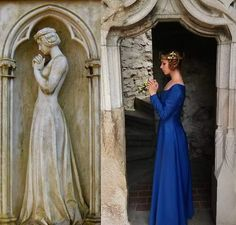 The photo is made after a tomb sculpture from Hauptfriedhof in Frankfurt. I love reenactment, here I played Elizabeth of Bosnia, queen of Hungary in the 14th century.