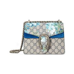 Gucci Dionysus Gg Blooms Mini Bag (11,690 CNY) ❤ liked on Polyvore featuring bags, handbags, shoulder bags, floral handbags, gucci handbags, shoulder handbags, gucci shoulder bag and gucci