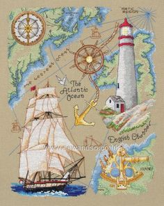 Buy Maritime Cross Stitch Kit Online at www.sewandso.co.uk