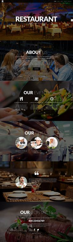 Template 52421 - Restaurant Responsive Website Template