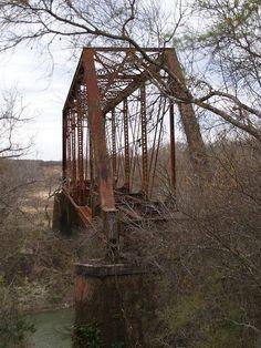 Old Train Bridge - Goliad, Texas