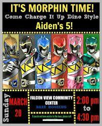 Power Rangers Party Invitations