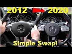 (45) Best Upgrade For ANY Mercedes! From 2012 To 2020 C63 AMG Steering Wheel Swap! (Easy DIY W204 W205 ) - YouTube