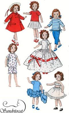 Vintage 50s Sewing Pattern Butterick 8799 8 inch by sandritocat, $28.00