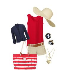 Nautical: Red, White and Blue by thirty-something-mom on Polyvore featuring polyvore, fashion, style, Uniqlo, maurices, Jane Norman, Brakeburn, Bling Jewelry and Topshop