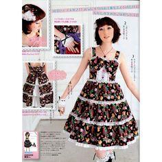 lolita Patterns | Lolita JSK Dress and Petticoat Sewing Pattern PDF | CraftyLine e ...