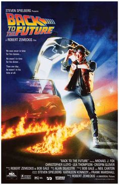 Back to the Future Michael J Fox Movie Poster 11x17