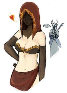 Dark Souls 2 - Amana Priestess and Desert Sorceress