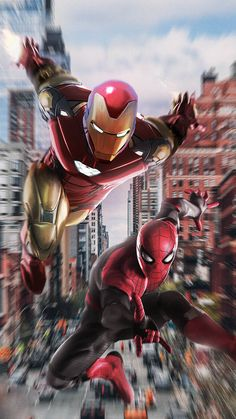 Iron Man with Spiderman iPhone Wallpaper - iPhone Wallpapers