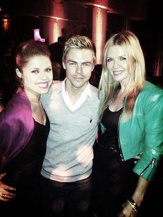 Great time @Us Weekly Hot Hollywood Party with Pro dancers @atrebunskaya @Derek Hough via Elena Samodanova