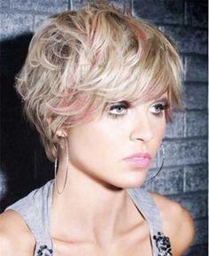 Choppy Pixie Blonde Hair
