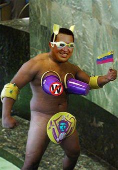 Hugo Chavez as an Internet meme.  From http://xenohistorian.faithweb.com/latinam/