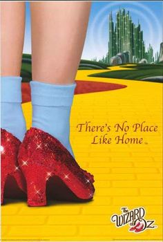 A great Wizard of Oz movie poster! Click your Ruby Slippered heels together 'cause There's No Place Like Home. Check out the rest of our fantastic selection of Wizard of Oz posters! Need Poster Mounts. Wizard Of Oz Quotes, Wizard Of Oz Movie, Dorothy Wizard Of Oz, Wizard Of Oz 1939, Dorothy Shoes, Dorothy Oz, Red Slippers, Land Of Oz, Yellow Brick Road