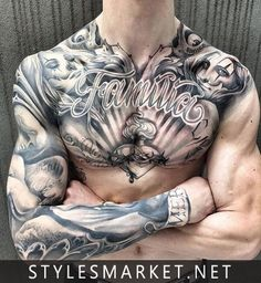 Front-body-color-tattoo-design