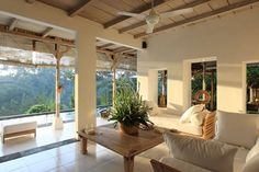 Cozy living room with a great view in Ubud, Bali http://www.homeaway.com/vacation-rental/p351590 #vacationrental