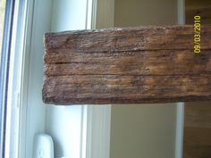 Awesome faux beams in my kitchen from Florida- styrofoam- look absolutely real