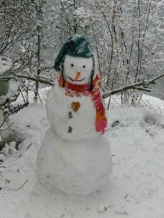 A snowman's heart