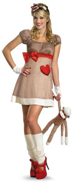 Ok!! i need a party to go to so that i can get this!! I'm in LOVE with the Sock Monkey!! lol...Ms Sock Monkey Womens Costume