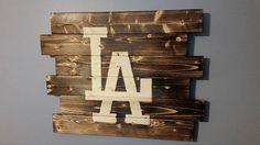 Los Angeles Dodgers by CarolinaPalletDesign on Etsy