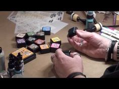 Tim Holtz demos Distress Ink Minis and Mini Blending Tool at CHA 2014 http://www.nonadesigns.com/applicators.htm