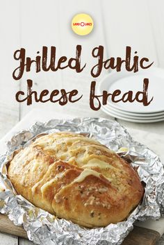 Deli American is sandwiched in between slices of French Bread, spread with our Garlic & Herb Spread and is wrapped up in foil and grilled. A perfect complement to any summer meal. Croissants, Cheesecakes, Grilling Recipes, Cooking Recipes, Drink Recipes, Biscuits, Muffins, Garlic Cheese Bread, Herb Bread