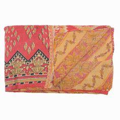 handstiched sari cotton quilt