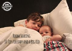 10 Tips for Kids Sharing a Room Together. Ten room sharing tips for a baby and an older child. When I was pregnant with my second son I worried about how sibling room sharing would go. Toddler And Baby Room, Toddler Rooms, Baby Boy, Shared Boys Rooms, Shared Bedrooms, Sibling Room, Brothers Room, Baby Sister, Big Kids
