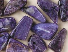 Charoite comes from only one place: Chary River at Aldan in Russia.