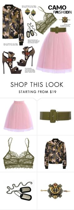 """""""CamoStyle"""" by gabrilungu ❤ liked on Polyvore featuring Cosabella, Topshop, Gianmarco Lorenzi, BROOKE GREGSON and camostyle"""