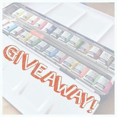 @msjesseleigh winsor&newton watercolours  I would like to have that giveaway maybe I am the lucky follower
