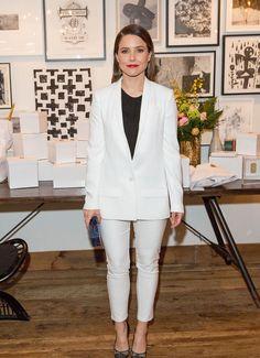 Sophia Bush's seasonally appropriate take on menswear is straight up style goals.
