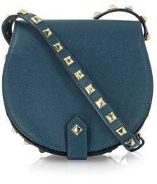 Skylar Mini Midnight Blue Studded Leather Crossbody / ShopStyle: Rebecca Minkoff