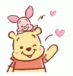 Winnie Pooh discovered by GLen =^● 。●^= on We Heart It - Disney winnie the pooh - Whinnie The Pooh Drawings, Winnie The Pooh Gif, Winne The Pooh, Cute Disney Drawings, Cute Drawings, Disney Kunst, Disney Art, Gif Mignon, Pinturas Disney
