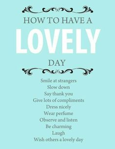 Have a lovely day!! :-)