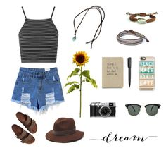 Look boho by carla-ceragioli on Polyvore featuring polyvore, fashion, style, Topshop, Birkenstock, Gottex, Casetify, Ray-Ban and Harley-Davidson