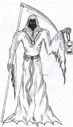 Grim Reaper Coloring Pages Bible Coloring Pages, Coloring Books, Grim Reaper, Archie, Panda Bear, Hourglass, Drawings, Crafts, Art