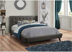 Coaster Carrington Upholstered Eastern King Bed in Grey Woven Fabric Upholstered Full Bed, Upholstered Platform Bed, Grey Bedding, Bedding Sets, Luxury Bedding, Bedroom Sets, Chic Bedding, Modern Bedding, Master Bedrooms