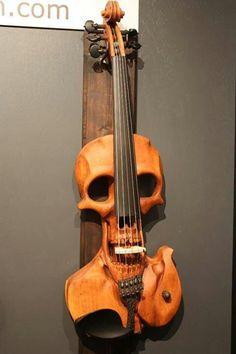 Skull Violin #awesome! #violin #skullz